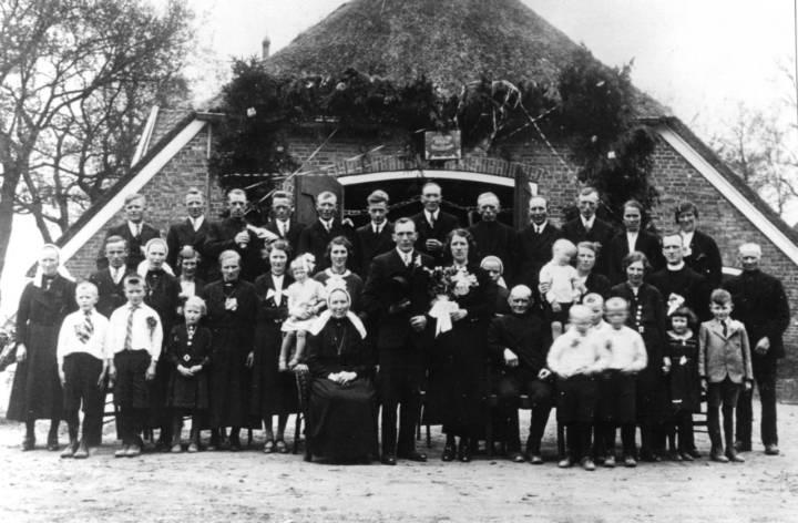 Huwelijk van Johan Bruggeman en Grade Blankenvoort op 9 mei 1939.